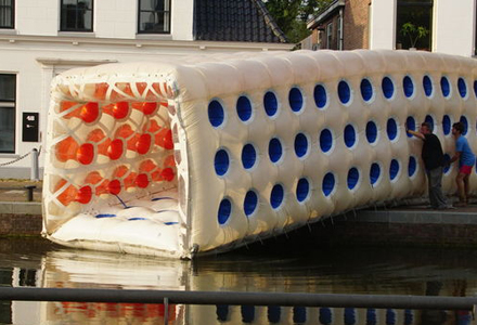 inflatable Air-Bridge on show in Assen (NL)